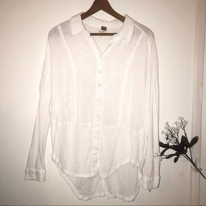 WE THE FREE•FREE PEOPLE white oversized button up